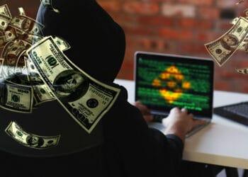Binance y hacker con dólares.