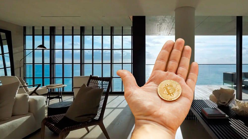 Condo pagado en bitcoin.