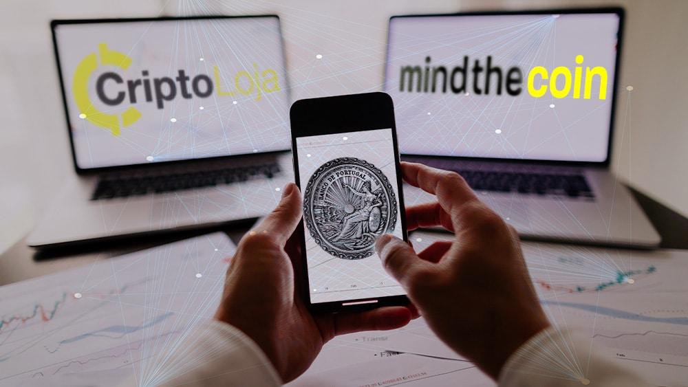Dos exchanges de criptomonedas fueron autorizados a operar en Portugal, país con beneficios fiscales para inversionistas. Composición por CriptoNoticias Fuentes:  avanti_photo  /  elements.envato.com  ; banco de portugal /  https://www.mindthecoin.com/  ;   mindthecoin.com  /  criptoloja.com .