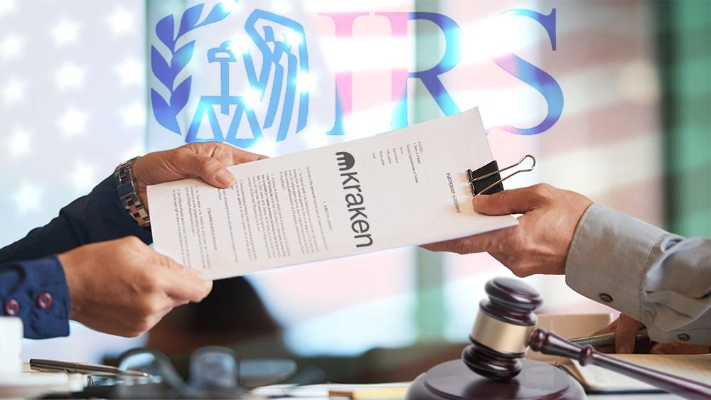 IRS solicita datos usuarios exchange criptomonedas kraken EE UU