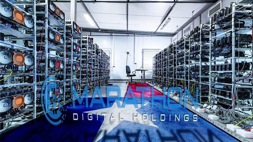instalación granja minería bitcoin texas marathon holdings