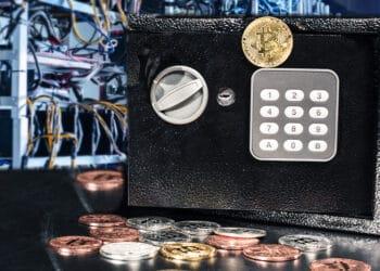 Caja fuerte, bitcoins y mineros.