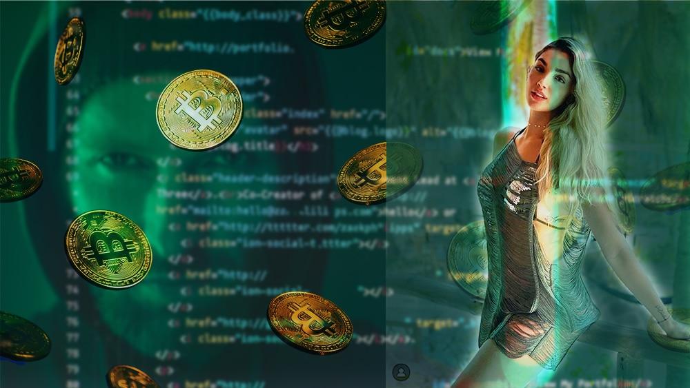 robo fraude criptomonedas bitcoin imagen modelo colombiana