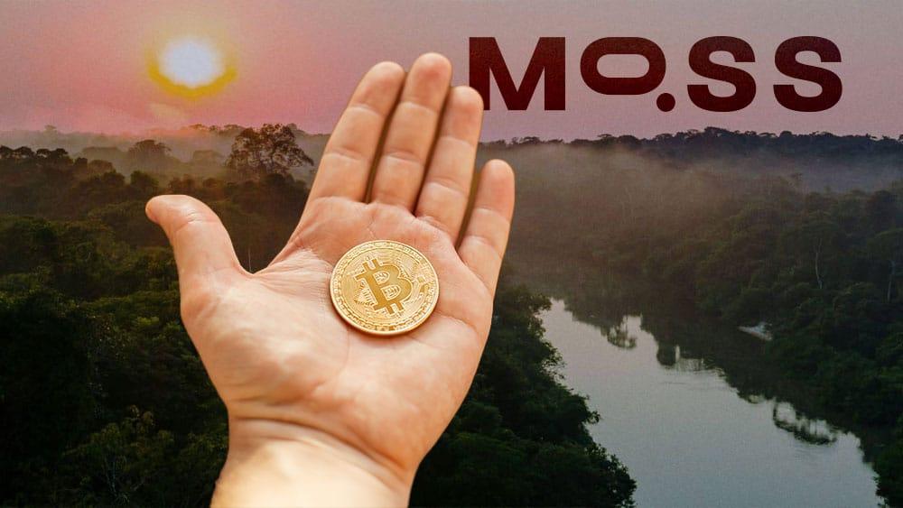 El fondo de cobertura One River, se unió con la plataforma de crédito de carbono MOOS, para solicitar un ETF de bitcoin. Composición por CriptoNoticias Fuentes:  Sonyachny  /  elements.envato.com  ;  moss.earth .