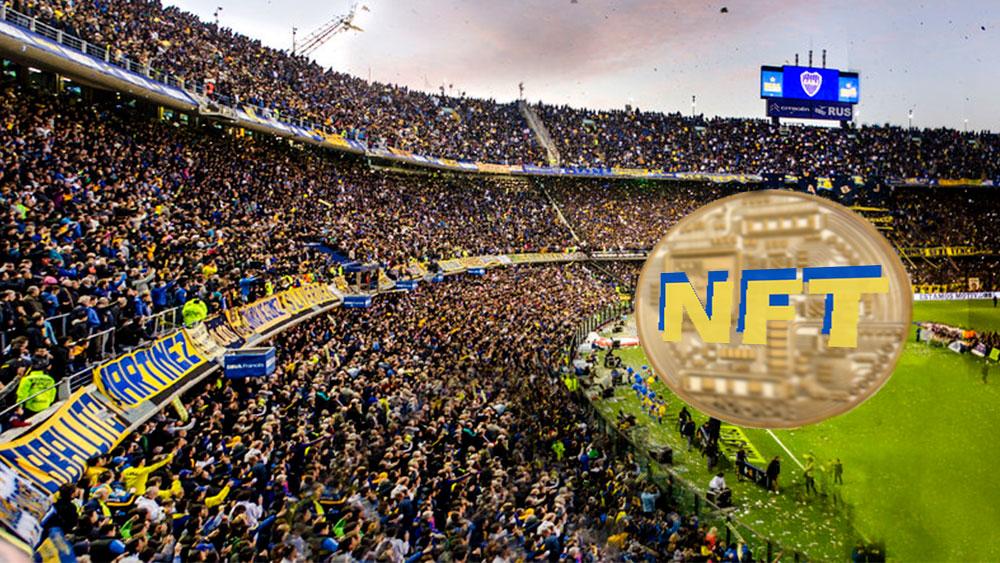 Estadio de Boca Juniors con moneda NFT.