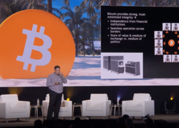 Captura de pantalla de la conferencia de Nick Szabo.