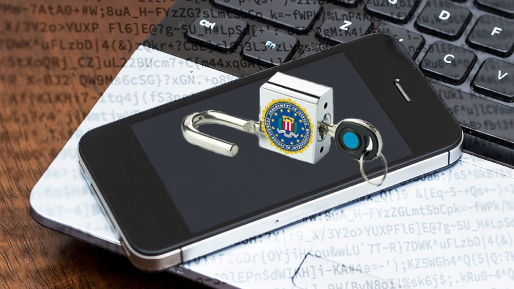 Teléfono encriptado por el FBI.