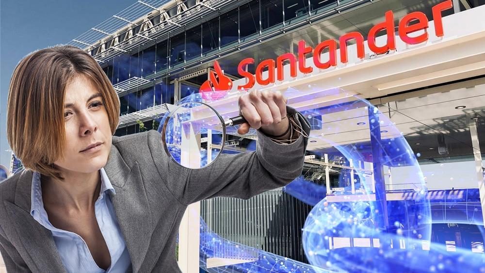 Santander y Elliptic se unieron para analizar las operaciones con criptomonedas de sus clientes. Composición por CriptoNoticias. @asier_relampagoestud / freepik.com; iLexx / elements.envato.com; Banco Santander / santander.com.