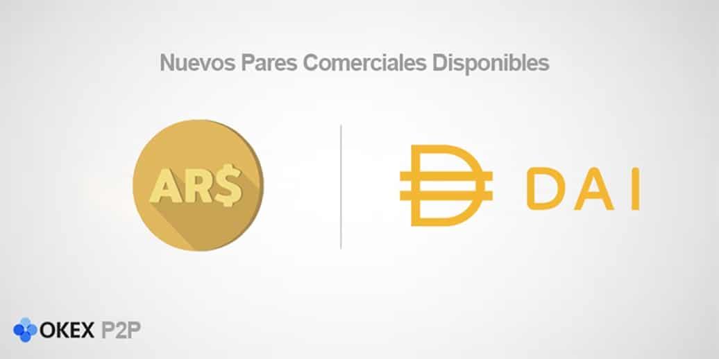 OKEx P2P incluye DAI en Argentina