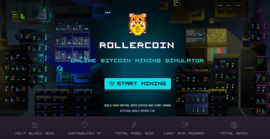 RollerCoin  - simulador de minería de bitcoin - ganar criptomonedas