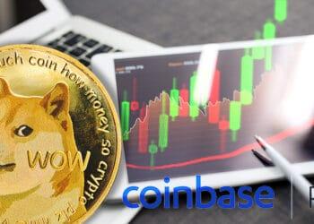 aumento precio dogecoin listamiento coinbase pro