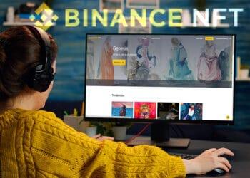 Binance pretende «liderar el metaverso» de los NFT con el lanzamiento de su marketplace de tokens coleccionables. Composición por CriptoNoticias. Binance / binance.com; DC_Studio / elements.envato.com.