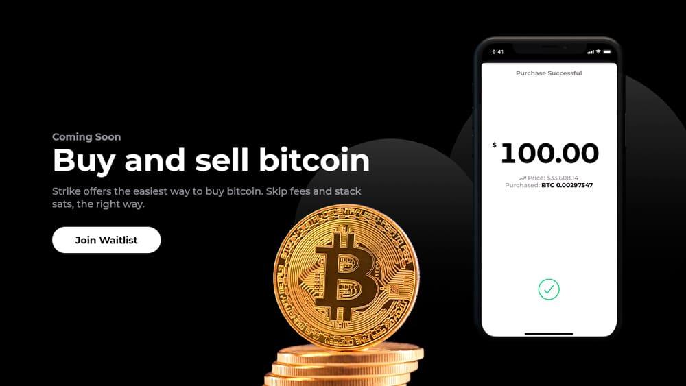 Strike es una plataforma que permite enviar y recibir dinero fiat, utilizando la red Bitcoin y Lightning para su funcioanmiento. Composición por CriptoNoticias Fuentes:  serhiibobyk  /  elements.envato.com  ;  strike.me .