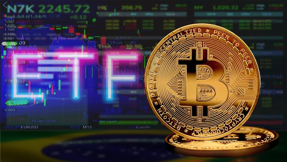 ETF y itcoin con gráficos.