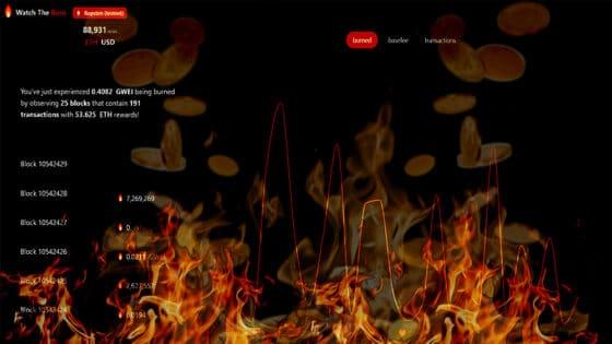 En esta página puedes ver cómo funciona la quema de comisiones de Ethereum