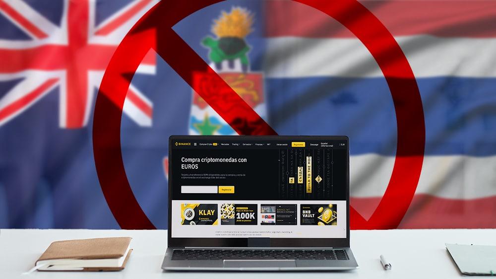prohibiciones operaciones criptomonedas binance países