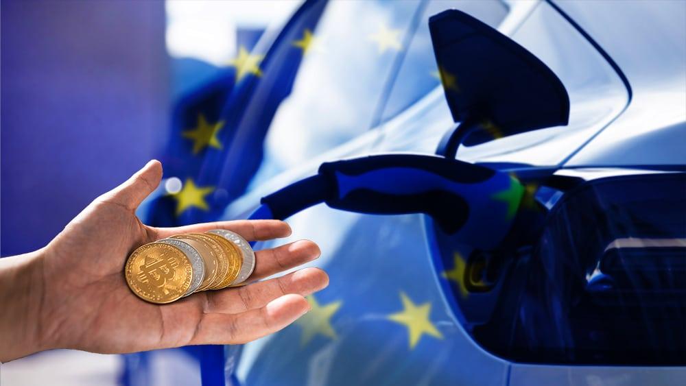 recargas automóviles electricos europa pagos criptomonedas