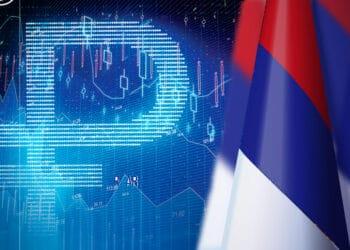 Bandera de Rusia y Rublo Digital.