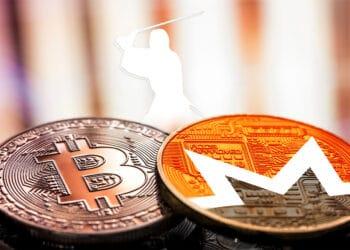 Bitcoin y Monero con logo de Samourai Wallet.