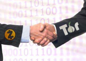 ZOMG recibe financiamiento de una parte del porcentaje de los ZCash minados. . Composición por CriptoNoticias Fuentes:  DmytroMykhailov  /  elements.envato.com  ;  Johnstocker  /  elements.envato.com  ;  cryptologos.cc  ;  torproject.org .