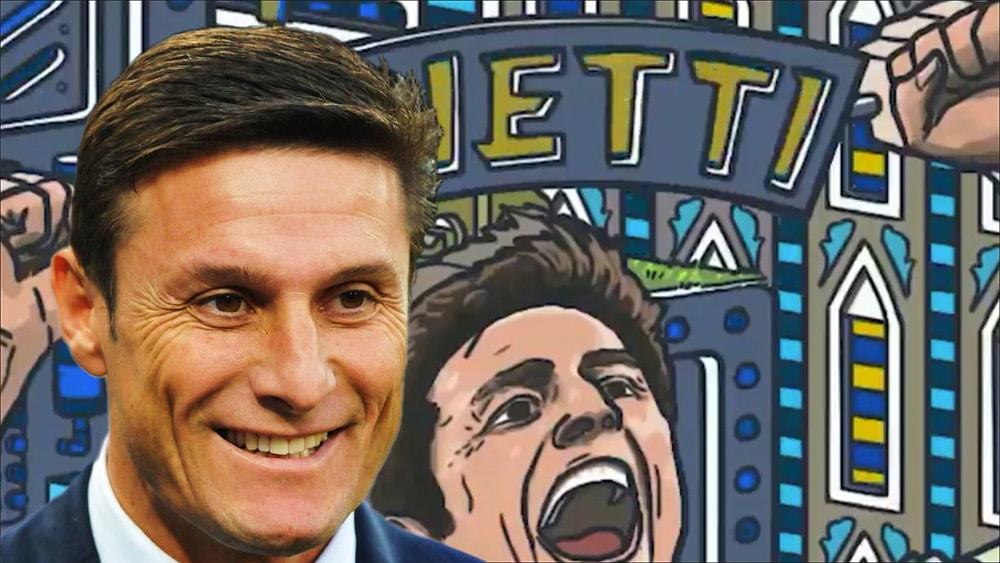 Cartel de Zanetti y su rostro.