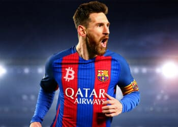 exchanges criptomonedas publicitarse camiseta barcelona FC