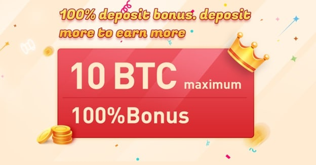 Pancarta de promoción bono de depósito 100% de Bexplus