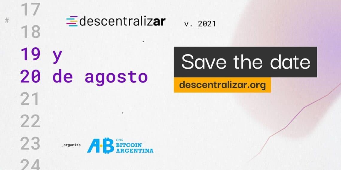Almanaque mostrando los días 19 y 20 de agosto del Evento Descentralizar en Argentina