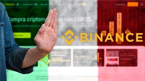 Binance tampoco puede operar en Italia, dice el regulador financiero italiano