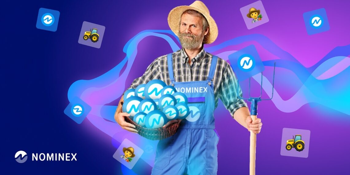 Granjero sembrando tokens NMX