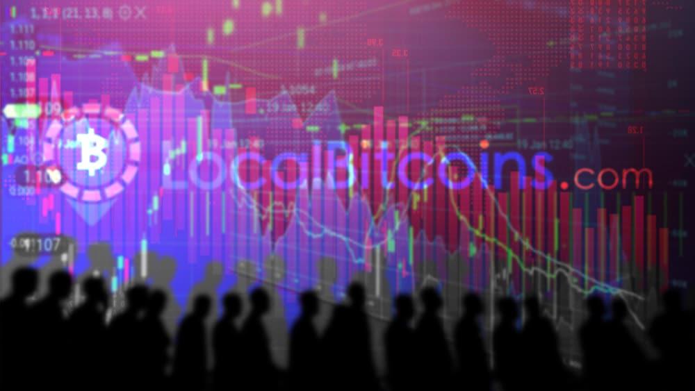 disminución usuarios exchange criptomonedas mercado p2p localbitcoins