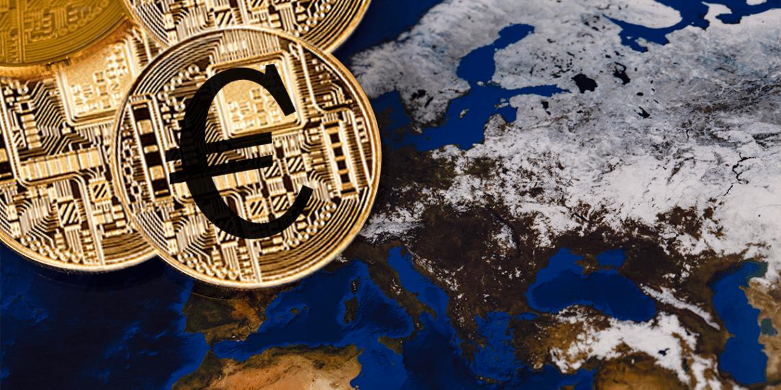 Mapa de Europa y Euro Digital.