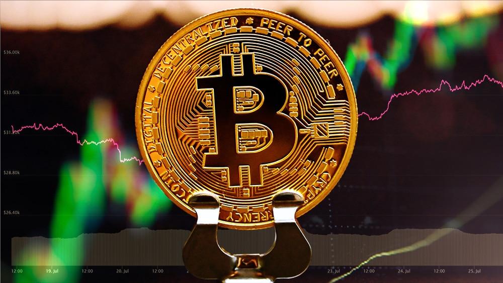 mercados día precio bitcoin sobre usd 30.000 métricas alcistas