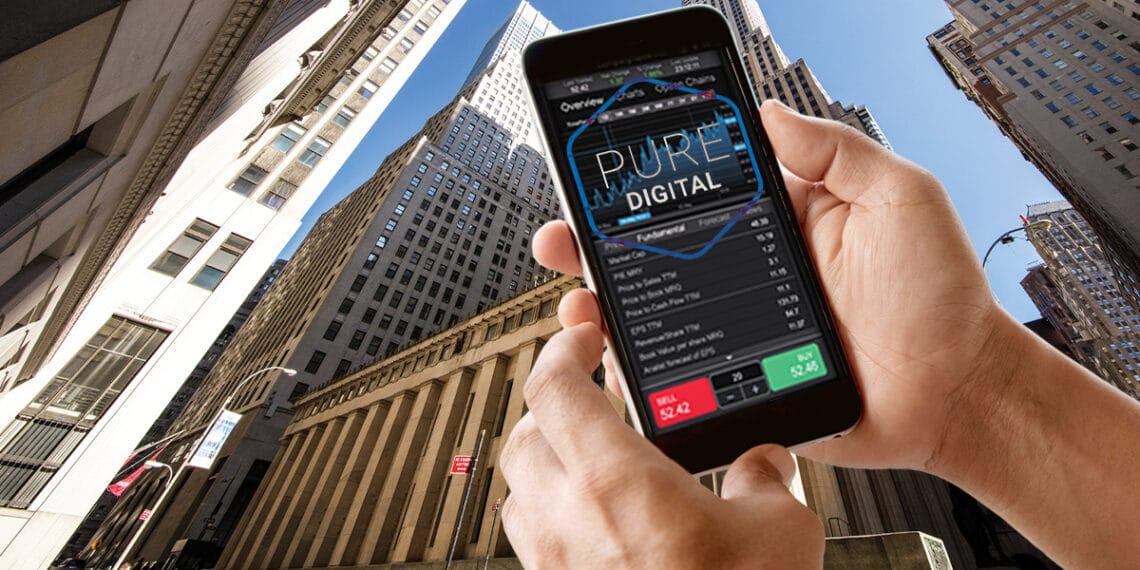 Rascacielos y app Pure Digital.