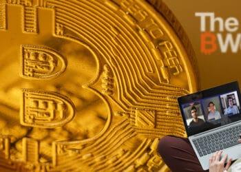 Bitcoin y usuario mirando la charla de The B Word.