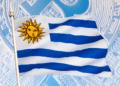 Uruguay bandera y BTC.