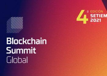 Pancarta promocional del evento Blockchain Summit LatAm