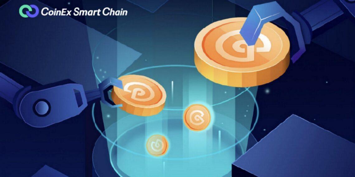 Recipiente recibiendo tokens desde brazos mecánicos