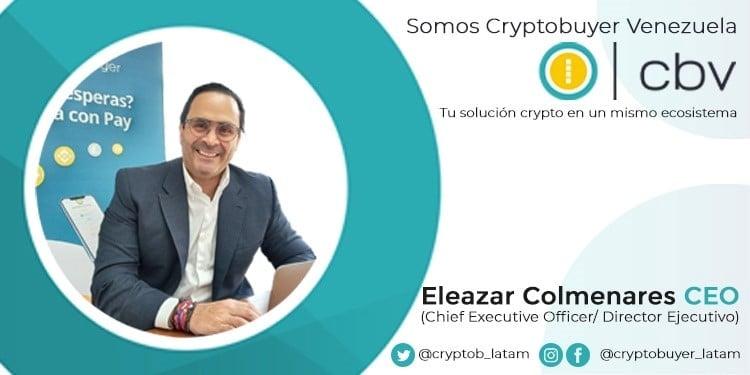 Foto de nuevo dueño y CEO de Cryptobuyer Venezuela