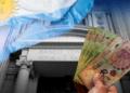 Banco central, bandera de Argentina, pesos.