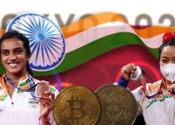 medallistas olímícos india recibiran criptomonedas bitcoin ether