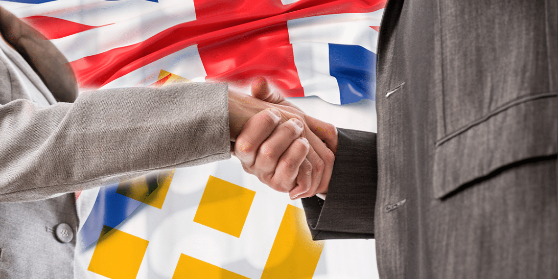 Binane y Reino Unidos, manos sellando acuerdo.