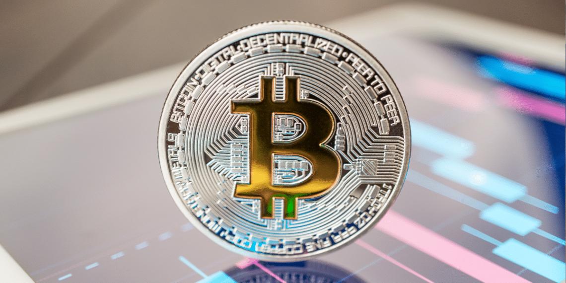 Bitcoin y gráfico.