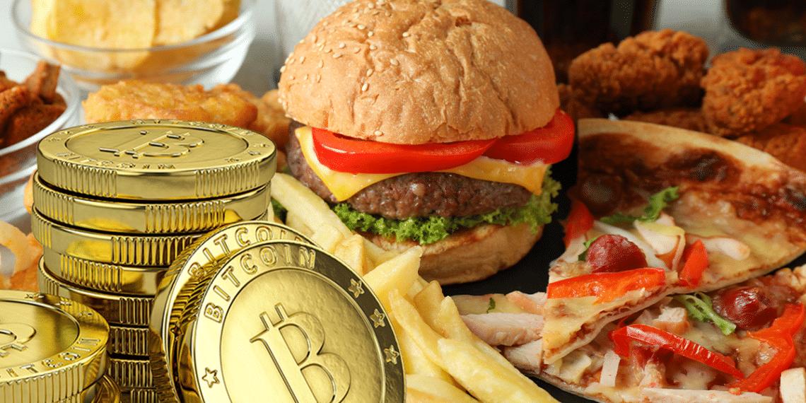 BTC entre hamburguesas y pizzas.