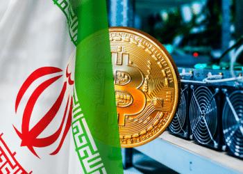 BTC, mineros y bandera de Irán.