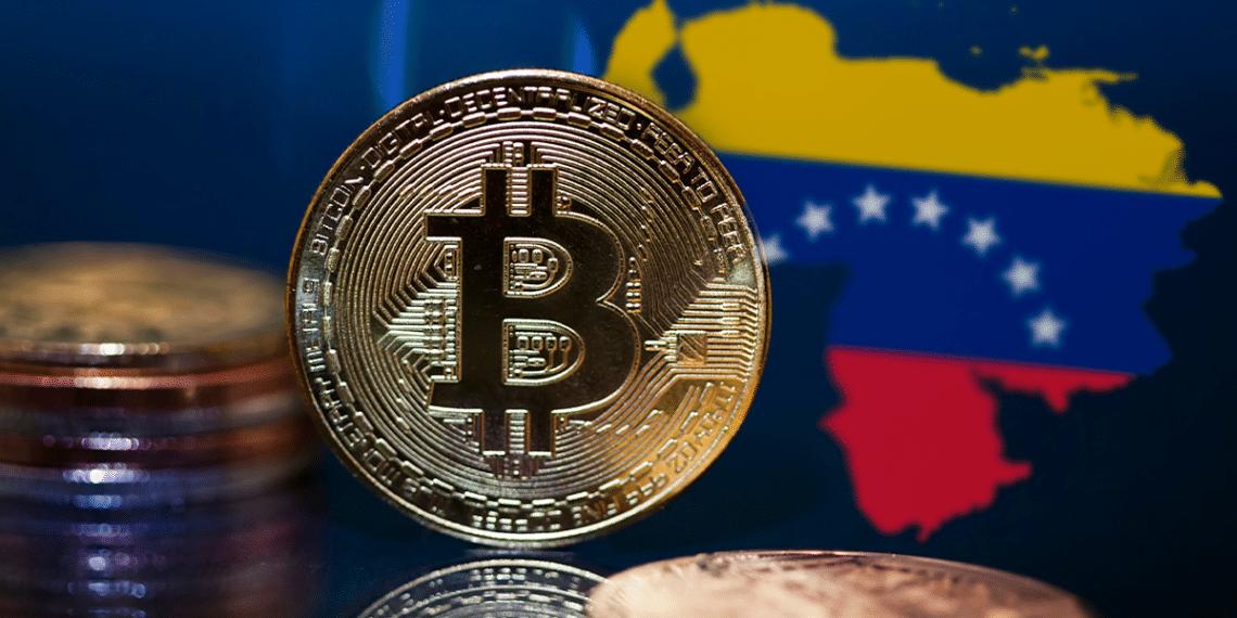 Mapa de Venezuela y BTC.