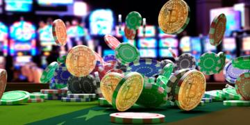 Casino con bandera de Venezuela y BTC.