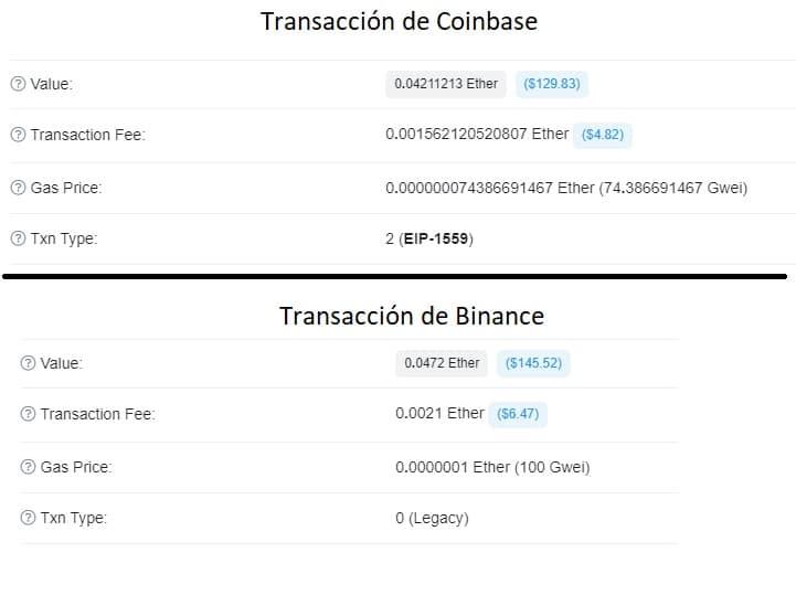binance-paga-mayores-tarifas-transaccion-coinbase