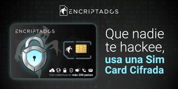 Pancarta promocional de la SIM Card de Encriptados