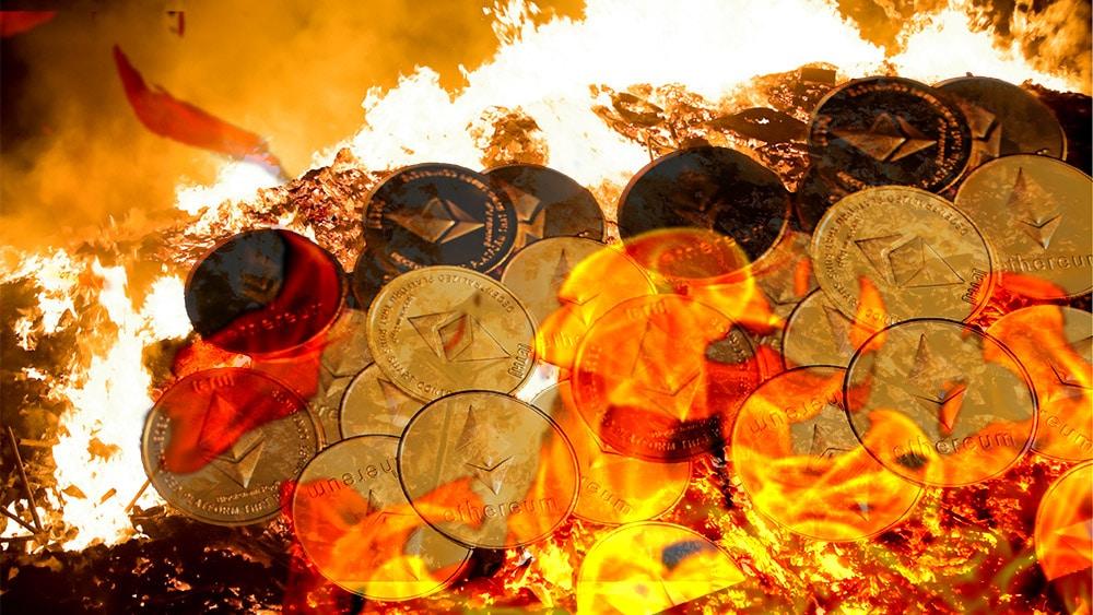 quema ethers primer día actualización ethereum EIP 1559